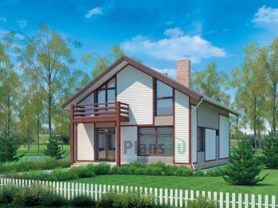 Проект дома с мансардой 11x8 метров, общей площадью 154 м2, из газобетона (пеноблоков), со вторым светом, c террасой и котельной