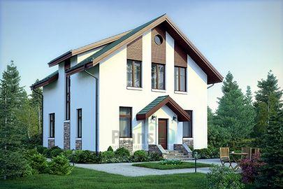Проект дома с мансардой 11x9 метров, общей площадью 147 м2, из газобетона (пеноблоков), c котельной