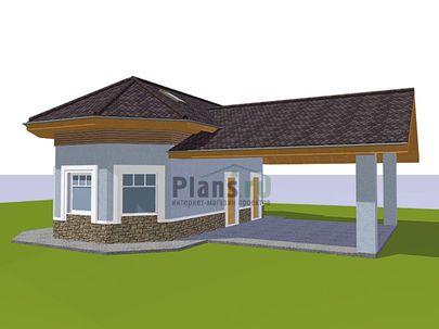 Проект дома с мансардой 11x9 метров, общей площадью 67 м2, из керамических блоков