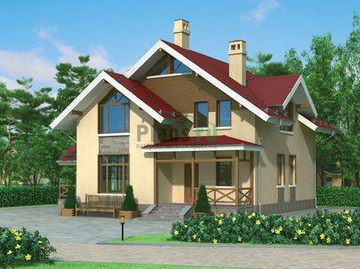 Проект дома с мансардой 12x11 метров, общей площадью 168 м2, из кирпича, c котельной и кухней-столовой