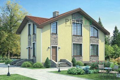 Проект дома с мансардой 12x7 метров, общей площадью 119 м2, из газобетона (пеноблоков), c котельной