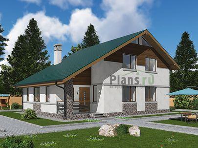 Проект дома с мансардой 12x9 метров, общей площадью 143 м2, из керамических блоков, c котельной и кухней-столовой
