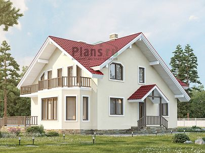 Проект дома с мансардой 12x9 метров, общей площадью 190 м2, каркасного типа, c террасой, котельной и кухней-столовой
