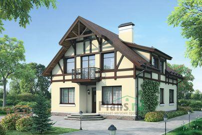 Проект дома с мансардой 12x9 метров, общей площадью 201 м2, из газобетона (пеноблоков), c котельной и кухней-столовой