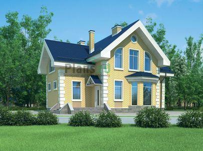 Проект дома с мансардой 13x10 метров, общей площадью 146 м2, из керамических блоков, c котельной