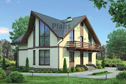 Проект дома с мансардой 13x10 метров, общей площадью 174 м2, из кирпича, c котельной и кухней-столовой