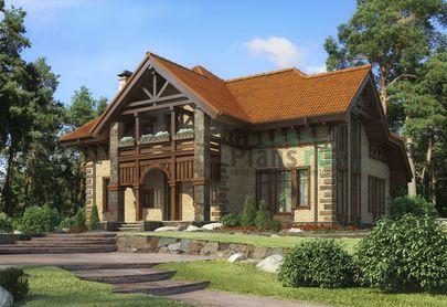 Проект дома с мансардой 13x12 метров, общей площадью 200 м2, из керамических блоков, c котельной