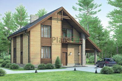 Проект дома с мансардой 13x9 метров, общей площадью 122 м2, из керамических блоков, со вторым светом, c котельной и кухней-столовой