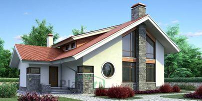 Проект дома с мансардой 14x10 метров, общей площадью 143 м2, из газобетона (пеноблоков), c котельной и кухней-столовой