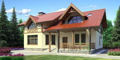 Проект дома с мансардой 14x10 метров, общей площадью 241 м2, из керамических блоков, c котельной