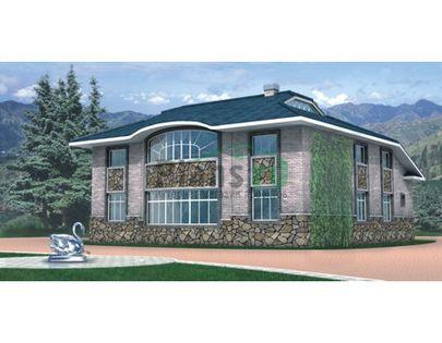 Проект дома с мансардой 14x16 метров, общей площадью 280 м2, из керамических блоков, c котельной