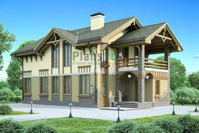 Проект дома с мансардой 14x7 метров, общей площадью 142 м2, из газобетона (пеноблоков), c котельной