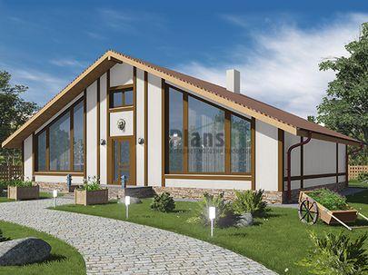 Проект дома с мансардой 15x10 метров, общей площадью 105 м2, из газобетона (пеноблоков), c котельной и кухней-столовой