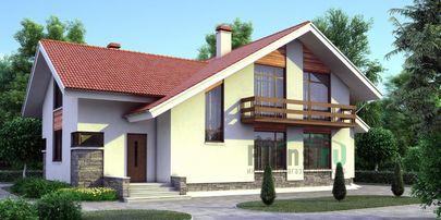 Проект дома с мансардой 15x10 метров, общей площадью 200 м2, из газобетона (пеноблоков), c котельной и кухней-столовой