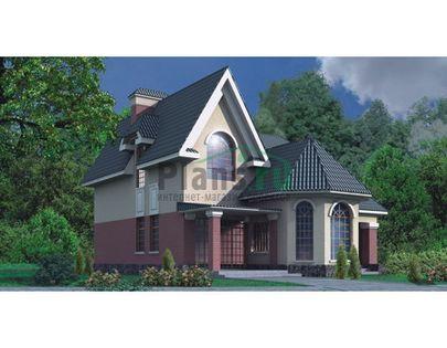 Проект дома с мансардой 15x11 метров, общей площадью 178 м2, из кирпича, со вторым светом, c котельной и кухней-столовой