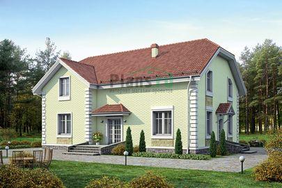 Проект дома с мансардой 15x12 метров, общей площадью 254 м2, из керамических блоков, c котельной