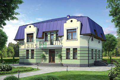 Проект дома с мансардой 15x13 метров, общей площадью 268 м2, из керамических блоков, c котельной