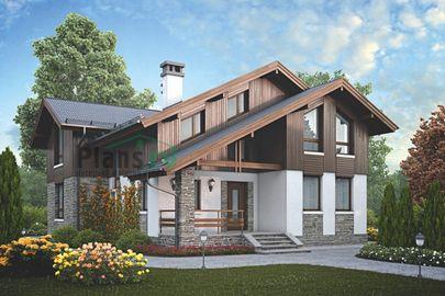 Проект дома с мансардой 16x10 метров, общей площадью 175 м2, из керамических блоков, c котельной