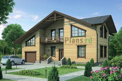 Проект дома с мансардой 16x11 метров, общей площадью 230 м2, из керамических блоков, c гаражом, котельной и кухней-столовой