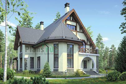 Проект дома с мансардой 16x15 метров, общей площадью 211 м2, из керамических блоков, со вторым светом, c котельной и кухней-столовой