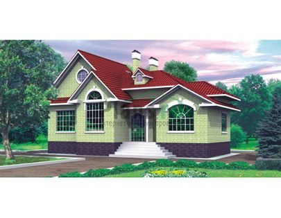 Проект дома с мансардой 16x9 метров, общей площадью 127 м2, из керамических блоков, c котельной