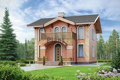 Проект дома с мансардой 16x9 метров, общей площадью 143 м2, из газобетона (пеноблоков), c котельной и кухней-столовой