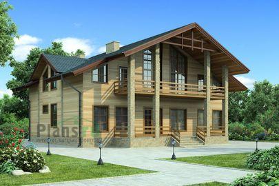 Проект дома с мансардой 18x15 метров, общей площадью 250 м2, из керамических блоков, со вторым светом, c террасой, котельной и кухней-столовой