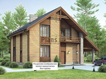 Проект дома с мансардой 26x9 метров, общей площадью 237 м2, из газобетона (пеноблоков), со вторым светом, c гаражом, котельной и кухней-столовой