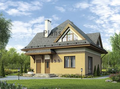 Проект дома с мансардой 9x11 метров, общей площадью 125 м2, из газобетона (пеноблоков), c котельной