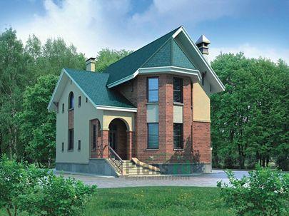 Проект дома с мансардой 9x8 метров, общей площадью 155 м2, из газобетона (пеноблоков)