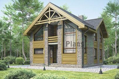 Проект дома с мансардой 9x9 метров, общей площадью 108 м2, из керамических блоков, c котельной и кухней-столовой