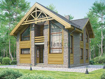 Проект дома с мансардой 9x9 метров, общей площадью 134 м2, из газобетона (пеноблоков), c котельной и кухней-столовой