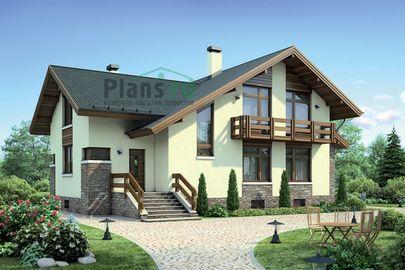 Проект дома с мансардой и цокольным этажом 10x15 метров, общей площадью 300 м2, из керамических блоков, c котельной и кухней-столовой