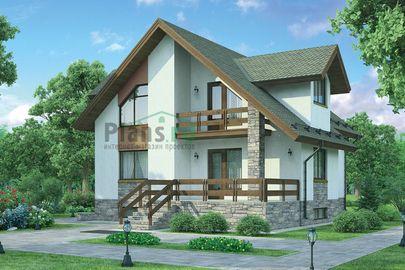 Проект дома с мансардой и цокольным этажом 11x10 метров, общей площадью 212 м2, из керамических блоков, c террасой, котельной и кухней-столовой