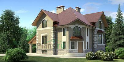Проект дома с мансардой и цокольным этажом 11x11 метров, общей площадью 290 м2, из керамических блоков, c котельной и кухней-столовой