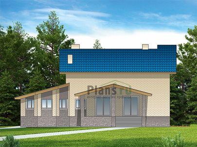 Проект дома с мансардой и цокольным этажом 14x16 метров, общей площадью 376 м2, из керамических блоков, c гаражом, бассейном, террасой, котельной и кухней-столовой