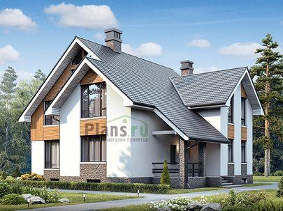 Проект дома с мансардой и цокольным этажом 16x12 метров, общей площадью 306 м2, из керамических блоков, c террасой, котельной и кухней-столовой