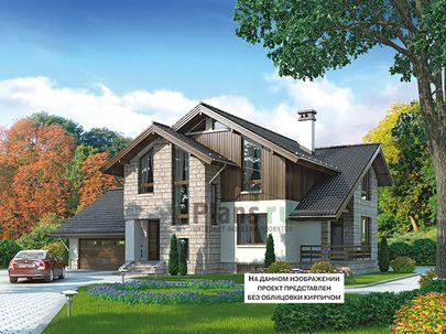 Проект дома с мансардой и цокольным этажом 17x15 метров, общей площадью 368 м2, из керамических блоков, c гаражом, террасой, котельной и кухней-столовой