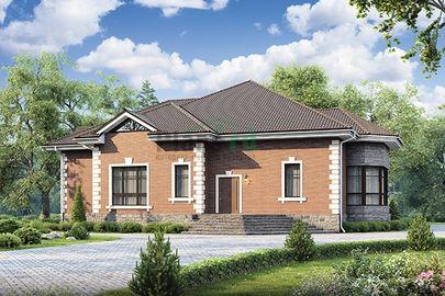 Проект дома с мансардой и цокольным этажом 20x16 метров, общей площадью 353 м2, из керамических блоков
