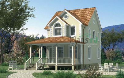 Проект дома с мансардой и цокольным этажом 6x14 метров, общей площадью 124 м2, из газобетона (пеноблоков), c котельной
