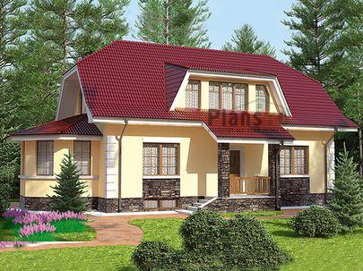 Проект дома с мансардой и цокольным этажом 9x15 метров, общей площадью 209 м2, из газобетона (пеноблоков), c котельной и кухней-столовой