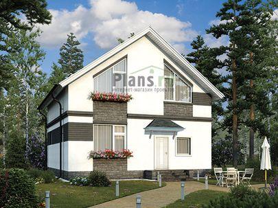 Проект дома с мансардой и цокольным этажом 9x9 метров, общей площадью 179 м2, из керамических блоков, c котельной и кухней-столовой