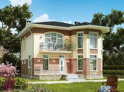 Проект двухэтажного дома 10x12 метров, общей площадью 153 м2, из газобетона (пеноблоков), c террасой, котельной и кухней-столовой