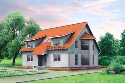 Проект двухэтажного дома 10x13 метров, общей площадью 189 м2, из газобетона (пеноблоков), со вторым светом
