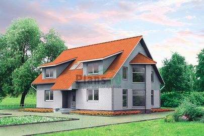 Проект двухэтажного дома 10x13 метров, общей площадью 189 м2, из кирпича, со вторым светом