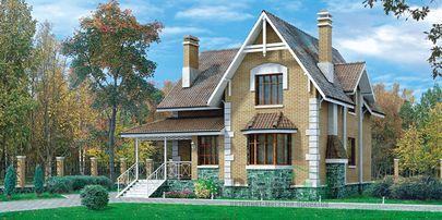 Проект двухэтажного дома 10x8 метров, общей площадью 150 м2, из газобетона (пеноблоков)