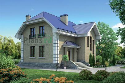 Проект двухэтажного дома 11x12 метров, общей площадью 139 м2, из кирпича, со вторым светом, c котельной и кухней-столовой