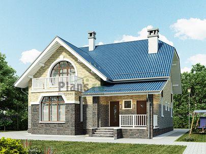 Проект двухэтажного дома 11x12 метров, общей площадью 171 м2, из газобетона (пеноблоков), c террасой, котельной и кухней-столовой