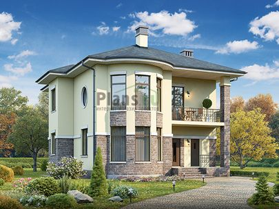 Проект двухэтажного дома 11x13 метров, общей площадью 185 м2, из кирпича, c котельной и кухней-столовой