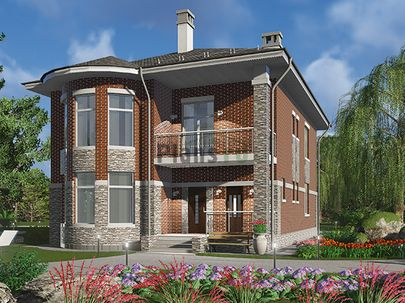 Проект двухэтажного дома 11x15 метров, общей площадью 205 м2, из газобетона (пеноблоков), c террасой, котельной и кухней-столовой